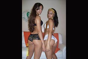 Ricuras latinas posando para la cámara