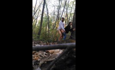 Nunca Pensaron Que Lo Estaban Grabando En El Bosque